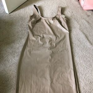 Fashion nova latex-looking dress